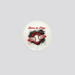 Born to Play Baseball Mini Button