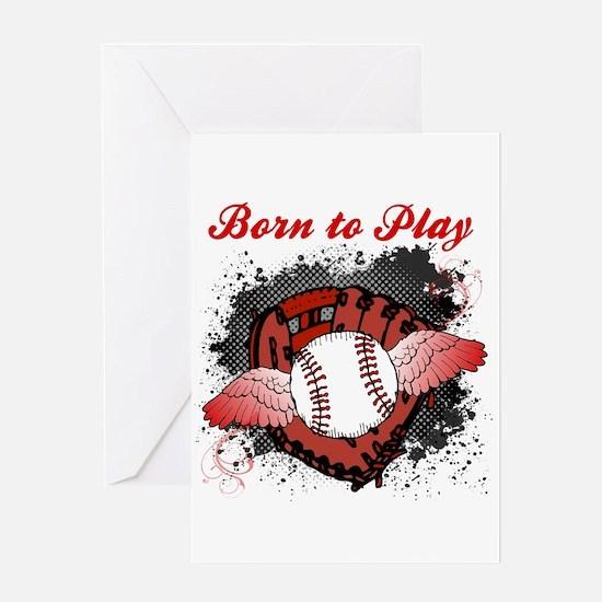 Born to Play Baseball Greeting Card
