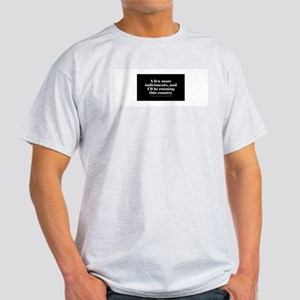 More indictments (mini type) Ash Grey T-Shirt