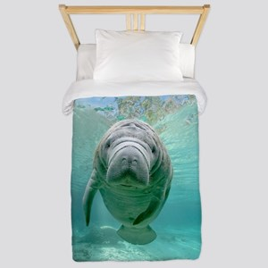 Cute Baby Manatee Twin Duvet Cover