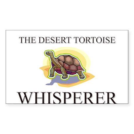 The Desert Tortoise Whisperer Rectangle Sticker