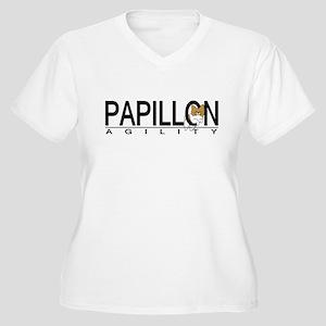 Papillon Agility Women's Plus Size V-Neck T-Shirt