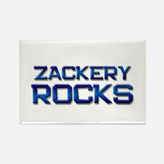 zackery rocks Rectangle Magnet