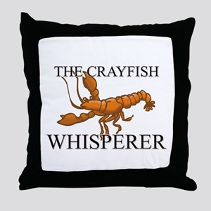 The Crayfish Whisperer Throw Pillow
