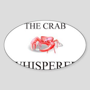 The Crab Whisperer Oval Sticker