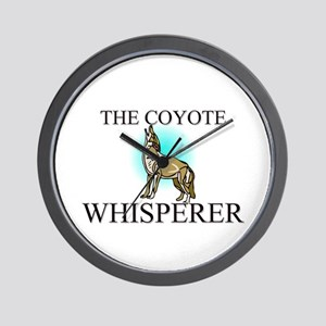 The Coyote Whisperer Wall Clock