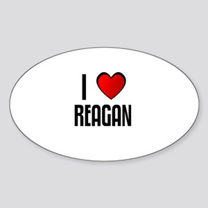 I LOVE REAGAN Oval Sticker