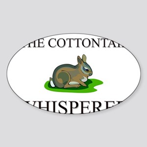 The Cottontail Whisperer Oval Sticker