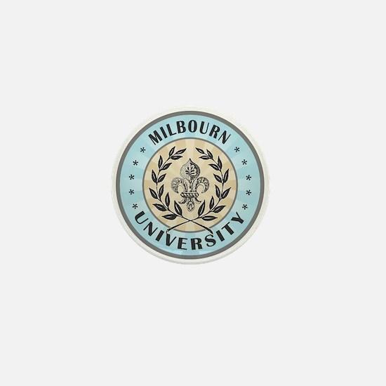 Milbourn Last Name University Mini Button