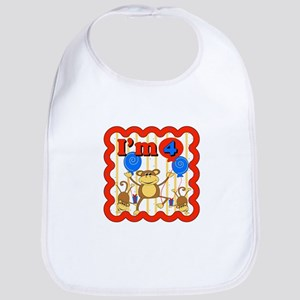4th Birthday Monkey Bib