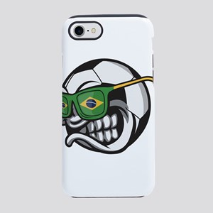 Brazilian Angry Soccer Ball iPhone 8/7 Tough Case