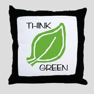 Think Green: Throw Pillow