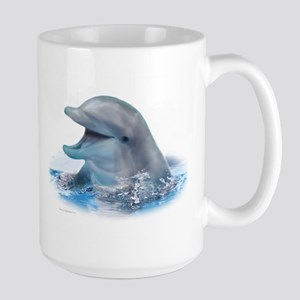 Happy Dolphin Large Mug