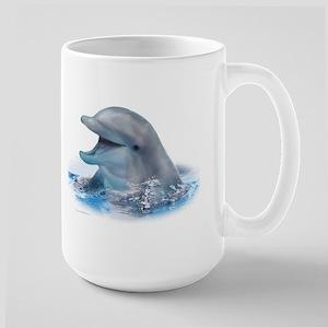 Happy Dolphin Large Mug