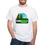 I LOVE GREEN White T-Shirt