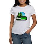 I LOVE GREEN Women's T-Shirt