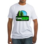 I LOVE GREEN Fitted T-Shirt