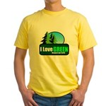 I LOVE GREEN Yellow T-Shirt
