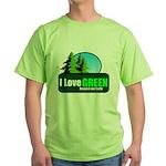 I LOVE GREEN Green T-Shirt