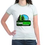 I LOVE GREEN Jr. Ringer T-Shirt