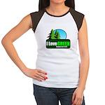 I LOVE GREEN Women's Cap Sleeve T-Shirt