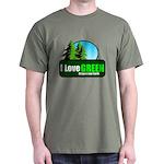 I LOVE GREEN Dark T-Shirt