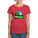 I LOVE GREEN Women's Dark T-Shirt