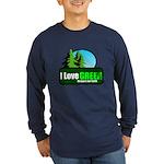 I LOVE GREEN Long Sleeve Dark T-Shirt