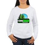 I LOVE GREEN Women's Long Sleeve T-Shirt
