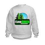 I LOVE GREEN Kids Sweatshirt