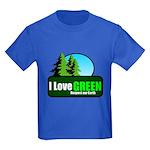 I LOVE GREEN Kids Dark T-Shirt