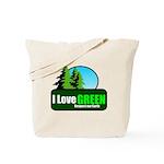 I LOVE GREEN Tote Bag