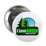 """I LOVE GREEN 2.25"""" Button (10 pack)"""