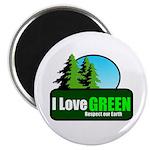 """I LOVE GREEN 2.25"""" Magnet (10 pack)"""