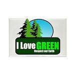 I LOVE GREEN Rectangle Magnet (10 pack)