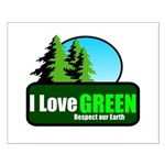 I LOVE GREEN Small Poster