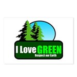 I LOVE GREEN Postcards (Package of 8)