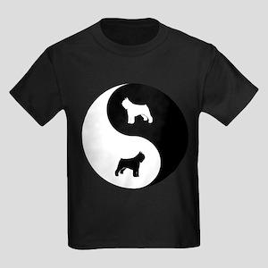 Yin Yang Bouvier Kids Dark T-Shirt