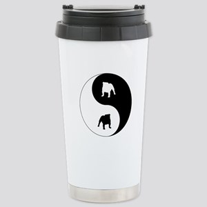 Yin Yang Bulldog Stainless Steel Travel Mug