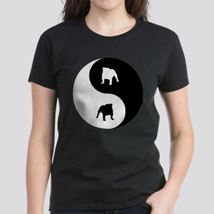 Yin Yang Bulldog Women's Dark T-Shirt