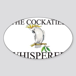 The Cockatiel Whisperer Oval Sticker