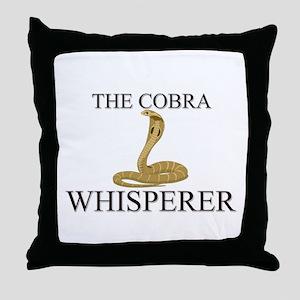 The Cobra Whisperer Throw Pillow