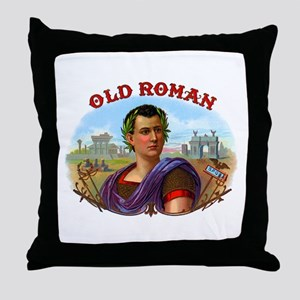 Old Roman Cigar Label Throw Pillow