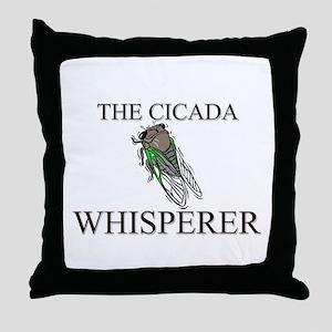 The Cicada Whisperer Throw Pillow