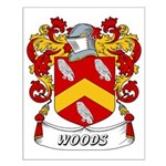 Woods Coat of Arms Small Poster