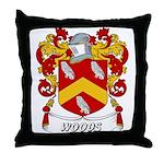 Woods Coat of Arms Throw Pillow