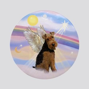 Welsh Terrier Angel Ornament (Round)