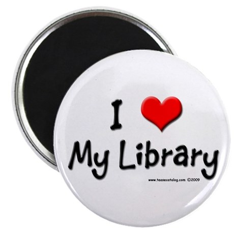 """I luv my Library 2.25"""" Magnet (10 pack)"""