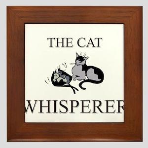 The Cat Whisperer Framed Tile