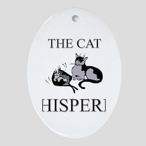 The Cat Whisperer Oval Ornament
